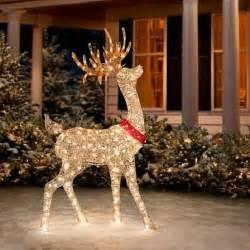 yard decorations for sale buy sale 60 quot outdoor lighted pre lit golden buck reindeer