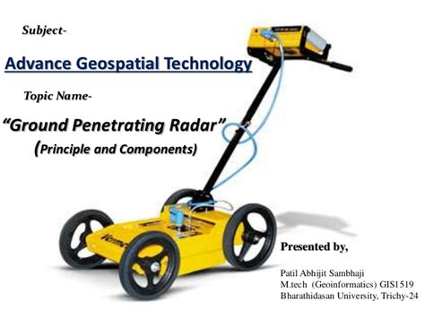 gpr basics a handbook for ground penetrating radar users books ground penetrating radar gpr