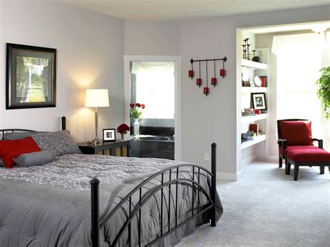 Gray Bedroom Design Modern Bedroom Design With White Wall Interior Color Decor Gray Carpet Tiles And Black Iron
