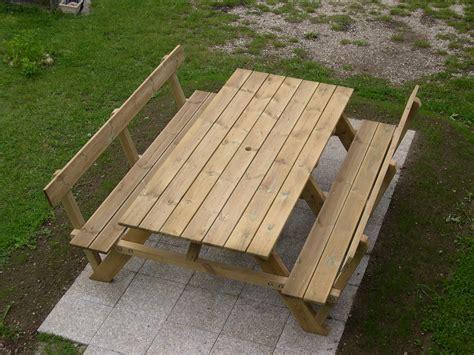 Table De Jardin En Metal 1704 by Table Picnic Bois Ides