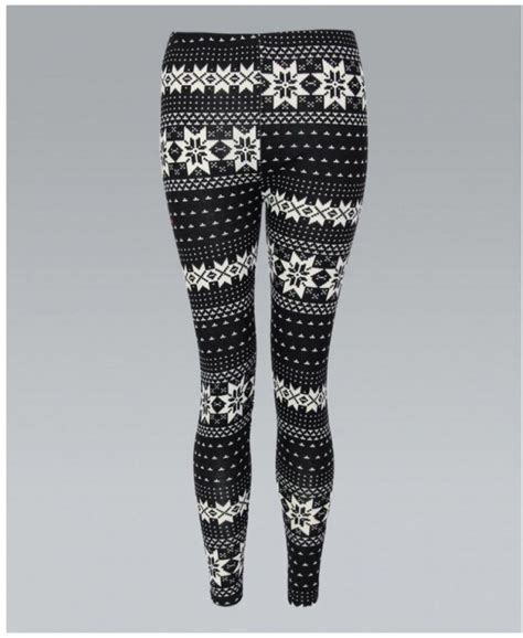 winter pattern leggings uk misskrisp woolen knit cream pattern leggings misskrisp