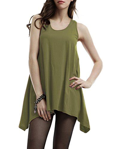 Sale Pl515 411 New Olive Dress doublju womens active neck sleeveless big size tank