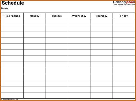 excel monday through friday calendar calendar template 2016