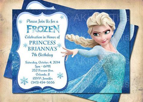 printable birthday cards elsa frozen birthday invitation princess elsa frozen by