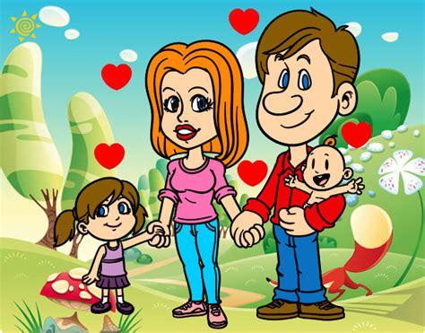 imagenes de la familia feliz dibujo de familia feliz pintado por cecy011 en dibujos net