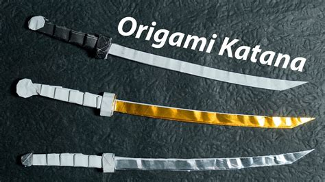 Origami Samurai Sword - damascus katana test cutting cold steel 88k