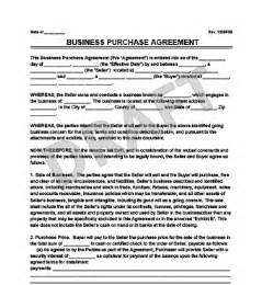 free business transfer agreement template create a business purchase agreement templates