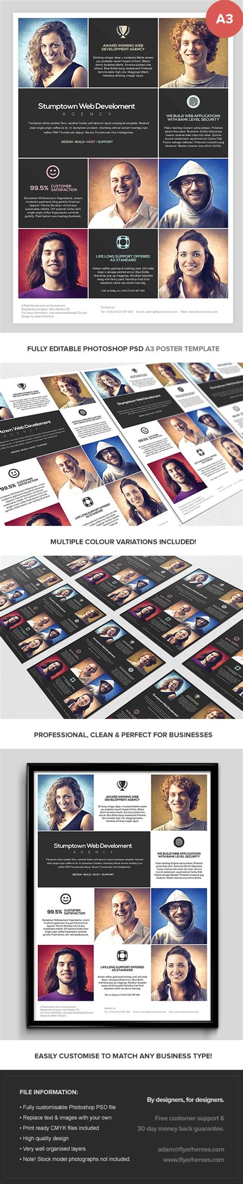 photoshop a3 layout multipurpose a3 business poster template flyerheroes