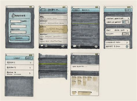24 Professional Exles Of Web And Mobile Wireframe Sketches Designmodo Sketch Wireframe Template
