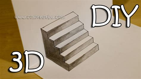 3d Drawing Of Stairs