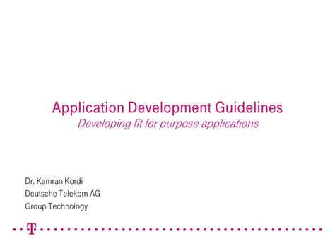 application design guidelines application development guidelines developing fit for