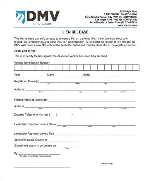 Release Letter Car car lien release letter sle gallery cv