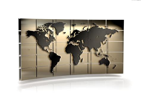Map Of The World Wall Mural world map wall psdgraphics