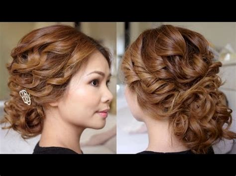 wedding hair up tutorials low bridal tousled updo hair tutorial