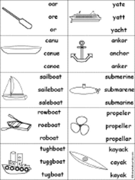 boat or ship words multiple choice spelling boat and ship words