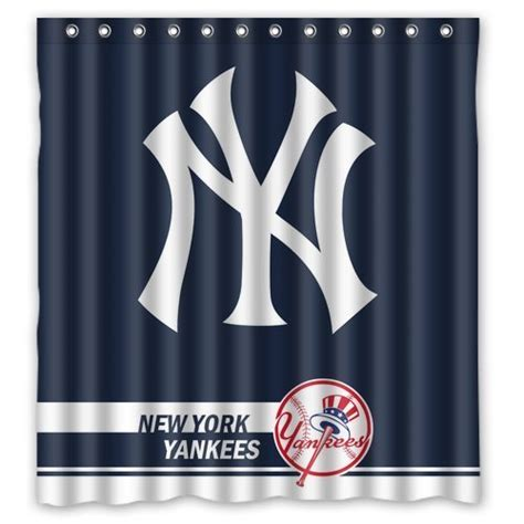 yankee shower curtain new york yankees drapes price compare