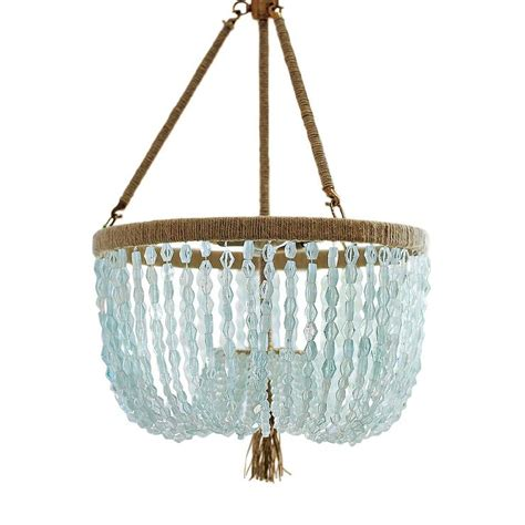 blue beaded chandelier seychelles chandelier serena