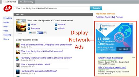 design google display ads google adwords search network vs display network adleg