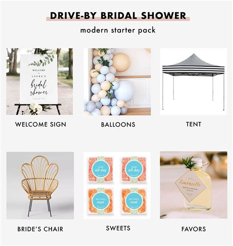 host  chic drive  bridal shower