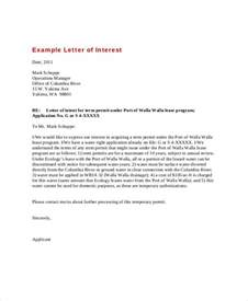 letter of interest 12 free sle exle format