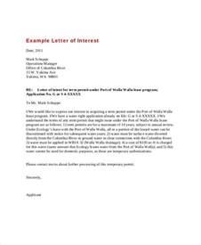 letter of interest 12 free sle exle format