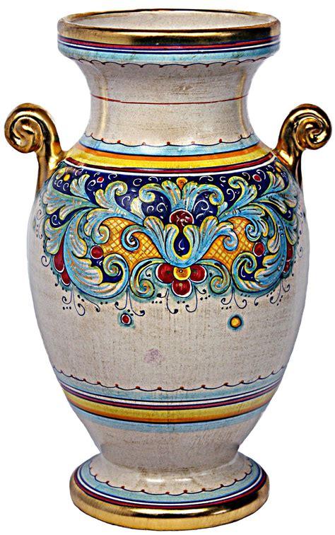italian ceramic vase deruta italian ceramic vase