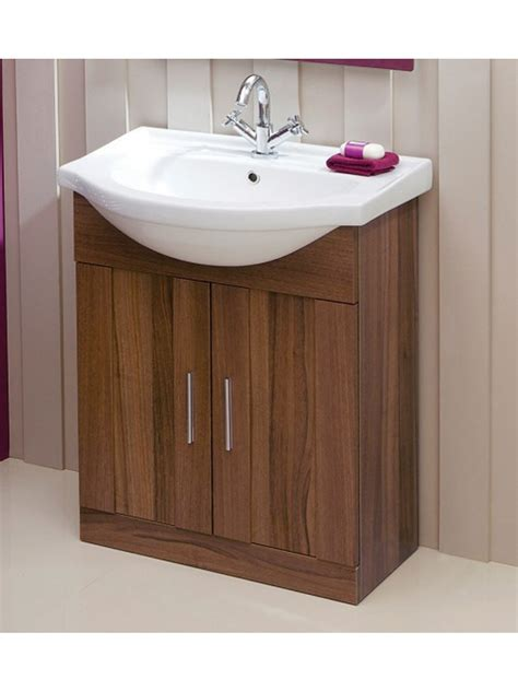 Oslo Bathroom Furniture Oslo Walnut 65cm Vanity Unit Basin
