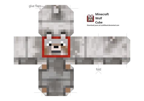 Minecraft Papercraft Chicken - wolf cube papercraft by lockrikard on deviantart