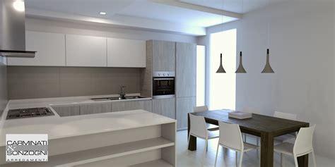 illuminazione per cucine moderne progettazione arredamento con rendering 3d carminati e