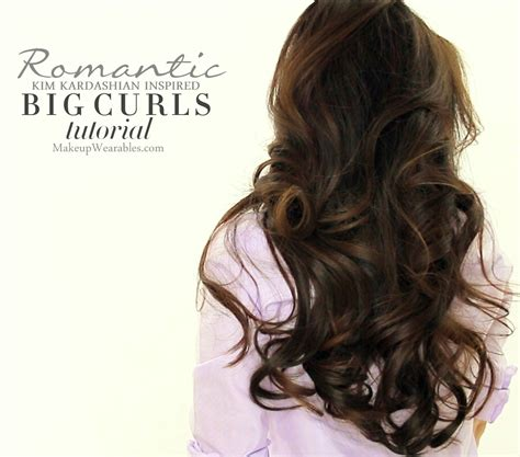 formal hairstyles big curls kim kardashain voluminous blow out tutorial how to blow