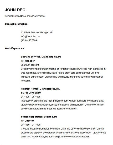 Basic Work Resume