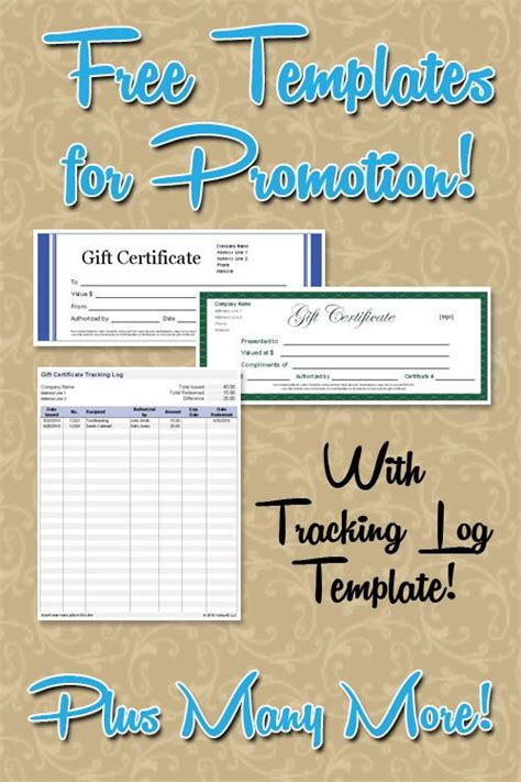gift certificate log template free gift certificate gc templates plus a gc tracker log