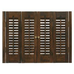 Home Depot Wood Shutters Interior Traditional Real Wood Walnut Interior Shutter Price Varies By Size