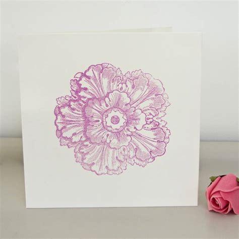 Handmade Flower Cards - handmade flower card by chapel cards notonthehighstreet