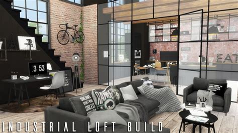cc for home the sims 4 industrial loft cc links build