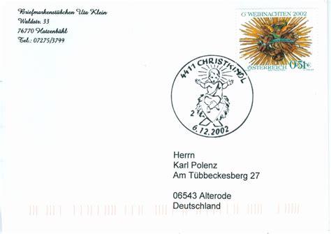 Schweiz Brief Nach Deutschland Christkindl Stempel Seite 2