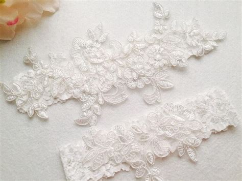 Wedding Garter by Wedding Garter Bridal Garter Wedding Lace Garter Ivory