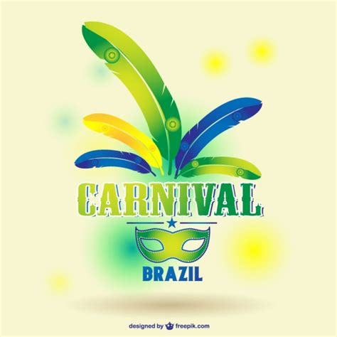 brazil colors carnival mask with colors vector free
