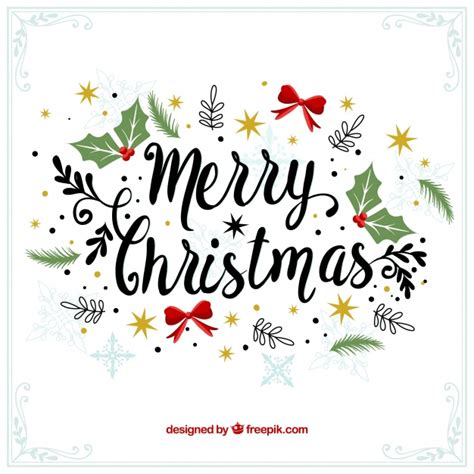 merry christmas wallpaper vector merry christmas decorative vintage background vector