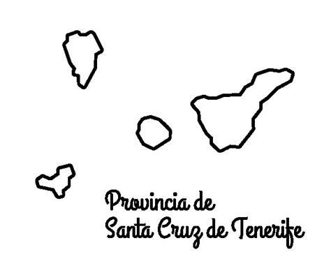 dibujos de islas para colorear dibujo de provincia de santa cruz de tenerife para