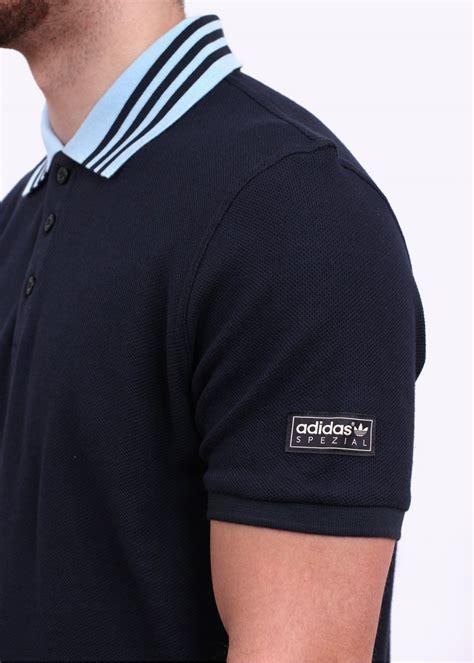Polo Shirt T Shirt Polo Adidas Navy adidas originals spezial 3 stripes polo shirt navy