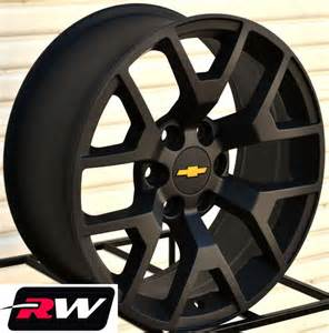 Chevy Truck Wheels Black 2014 Gmc Wheels Satin Black 20 Quot Inch 20x9 Quot Chevy