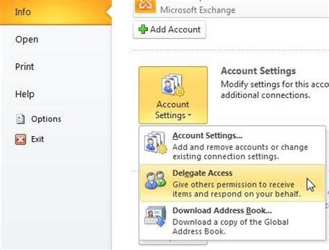 How To Access My Calendar Configure Delegate Access Microsoft Outlook 2010 Techyv