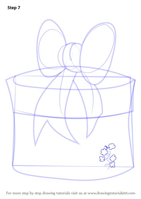 christmas drawing step by step and gift to gift cartoon step by step how to draw giftbox with ribbon drawingtutorials101