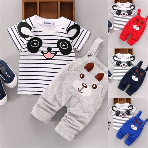 Baju T Shirt Baby baju 2pcs new born baby boy t shirt tops clothing set shopee malaysia