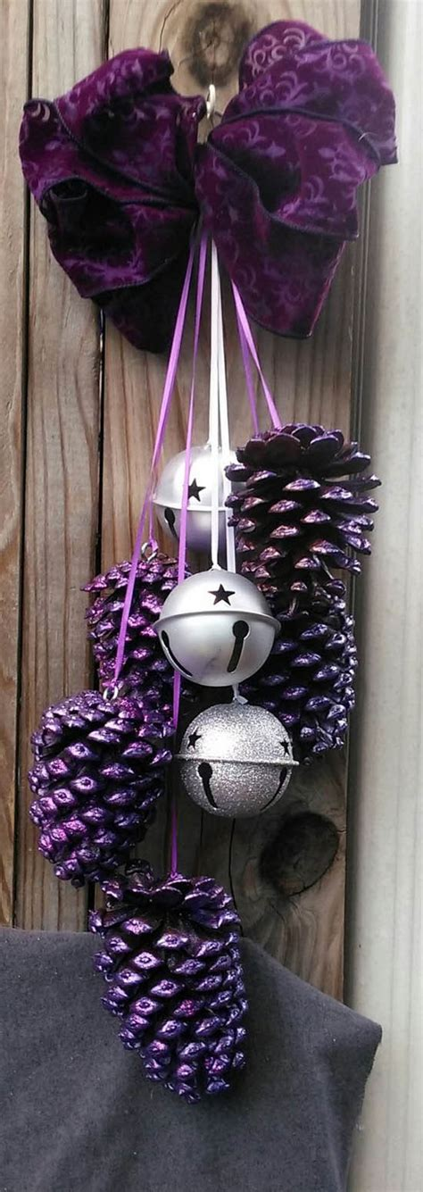 diy giant christmas bells diy pine cone crafts that you will