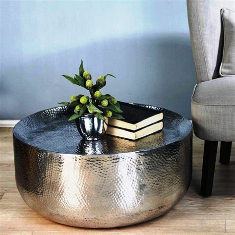 home design zymeth aluminum table l round metal coffee table ideal in any room matt and