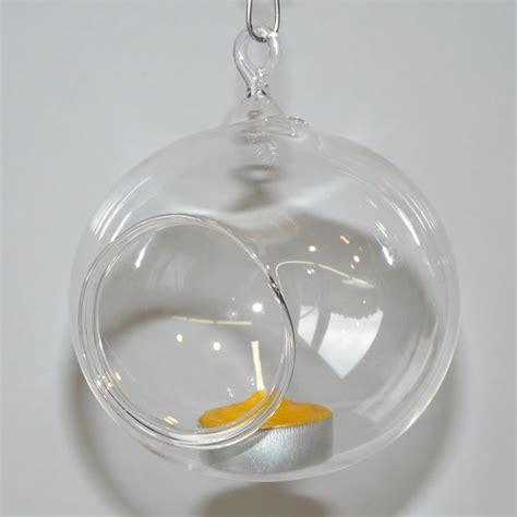 deko glaskugeln zum aufhängen windlichtkugel f 252 r teelicht windlicht glas kugel 8 cm