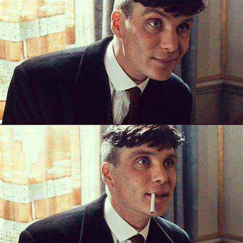 peaky blinders thomas shelby haircut one of the rare times he smiles in peaky blinders
