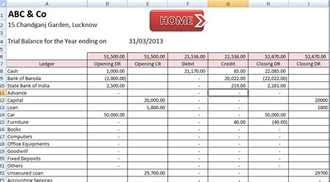 accounting layout excel abcaus excel accounting template download